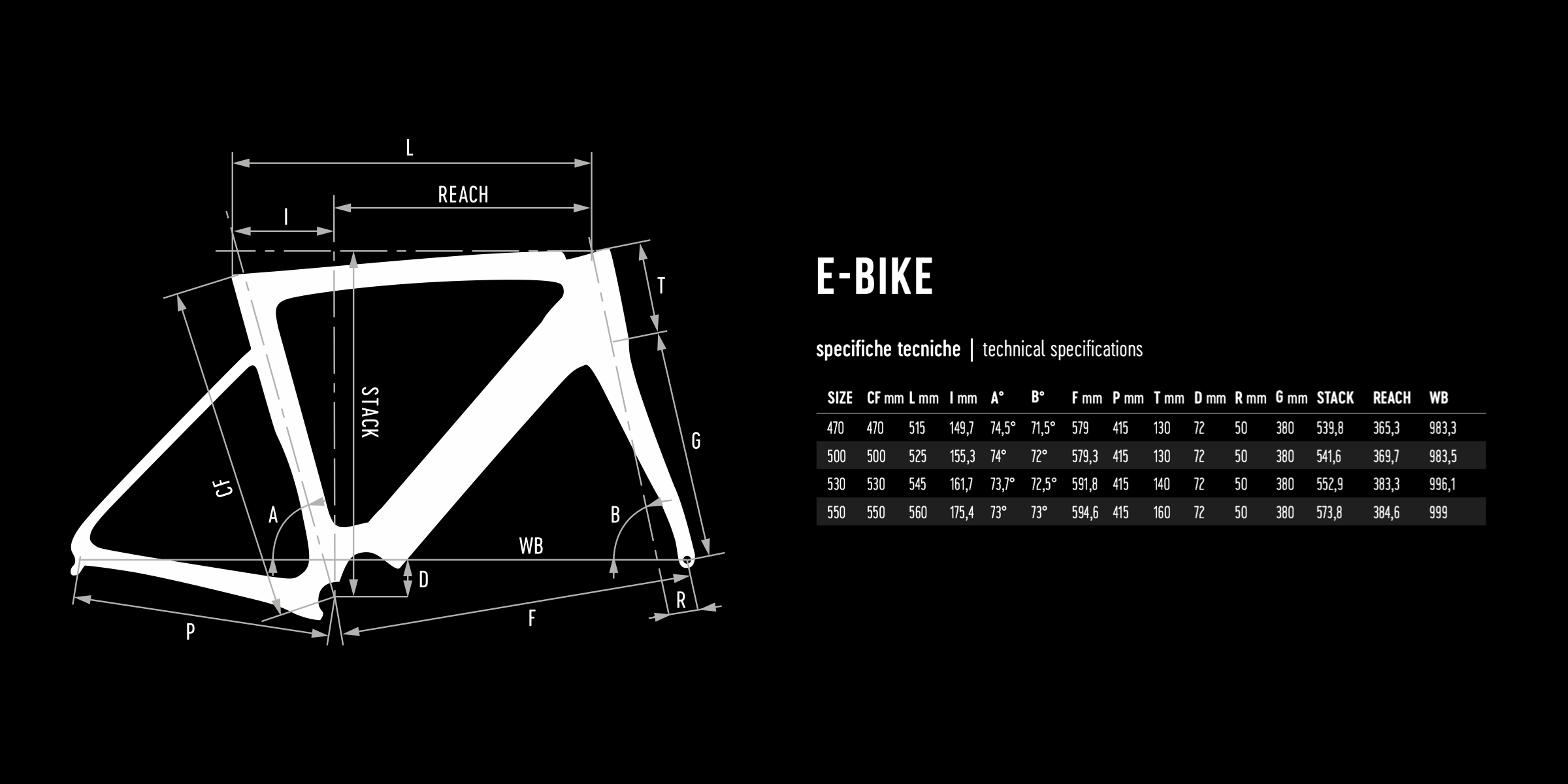 De Rosa geometry E-BIKE 2021