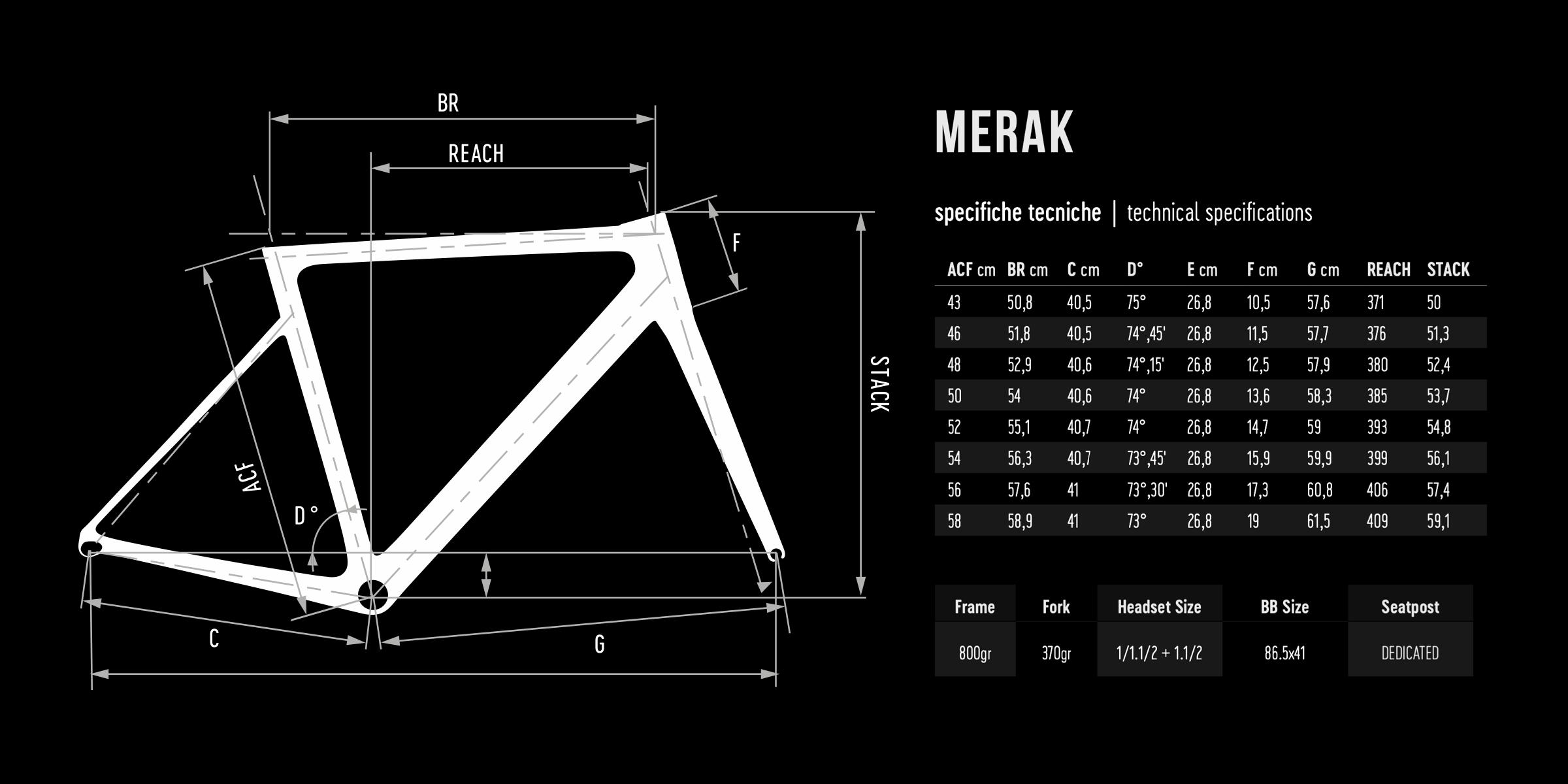 De Rosa geometry MERAK DISK 2021