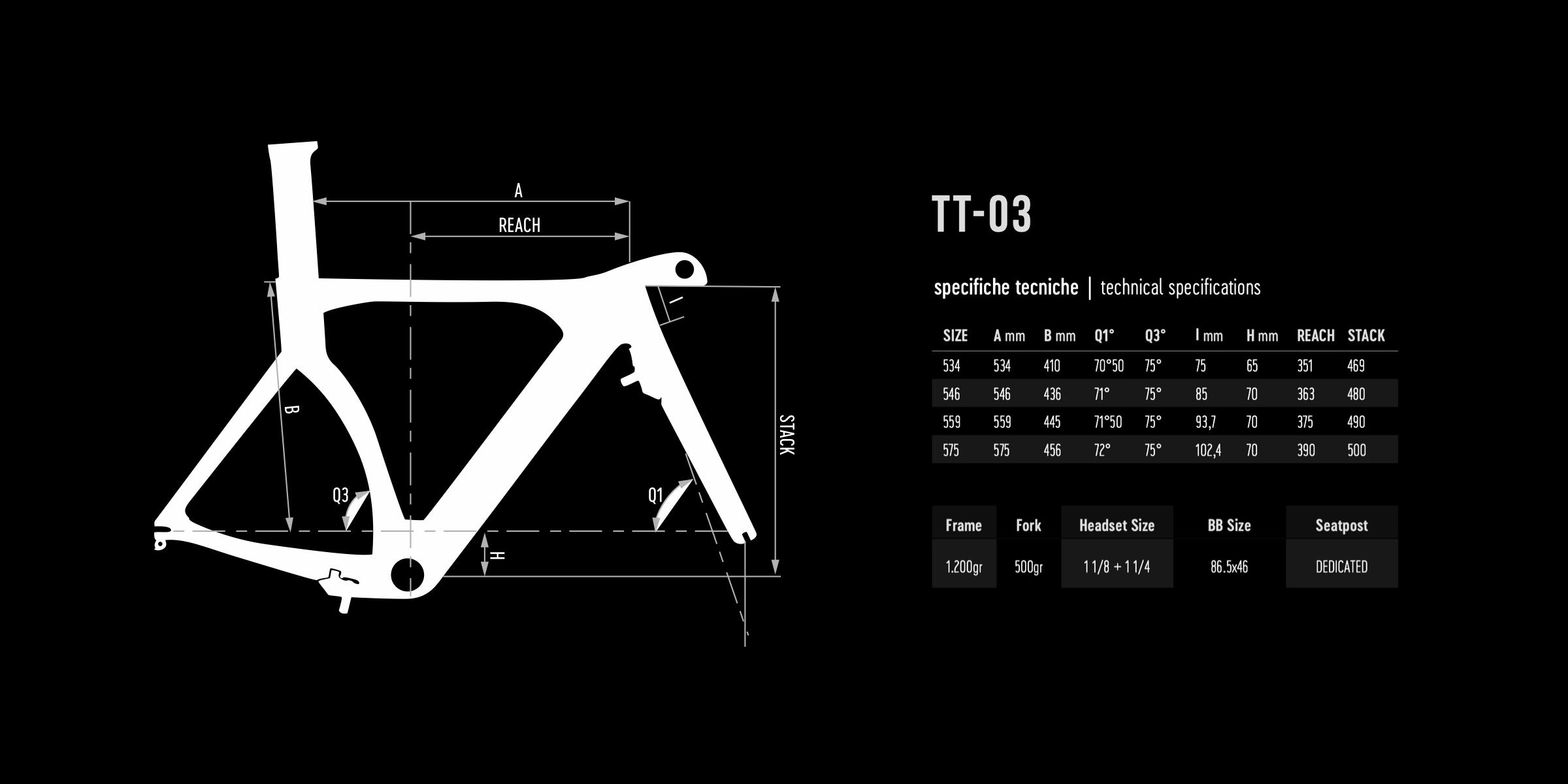 De Rosa geometry TT03 2021